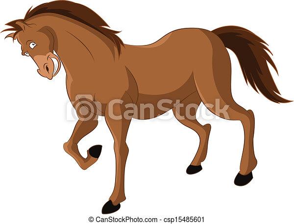 Caballo caricatura divertido caballo imagen vector sonriente caricatura - Clipart cheval ...