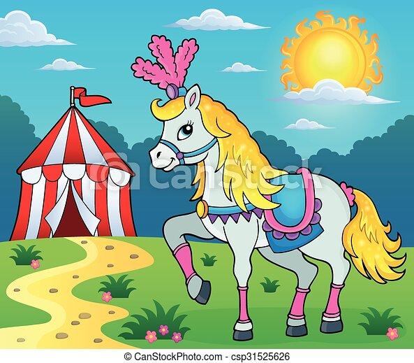 Tema de caballo de circo 3 - csp31525626