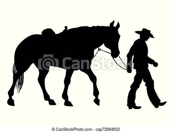 Vaquero y su caballo - csp72884832