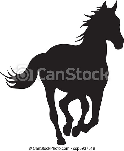 Vector de silueta de caballo - csp5937519