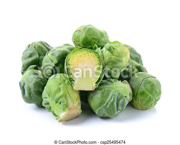 cabbage on white background - csp25495474