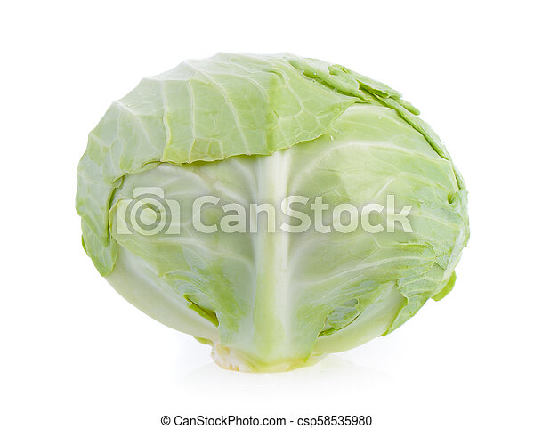 cabbage on white background - csp58535980