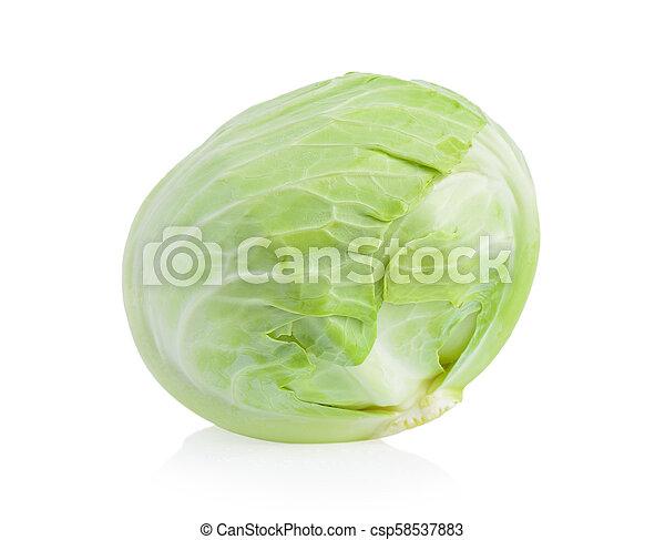 cabbage on white background - csp58537883