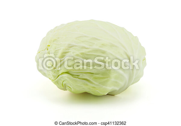 cabbage on white background - csp41132362