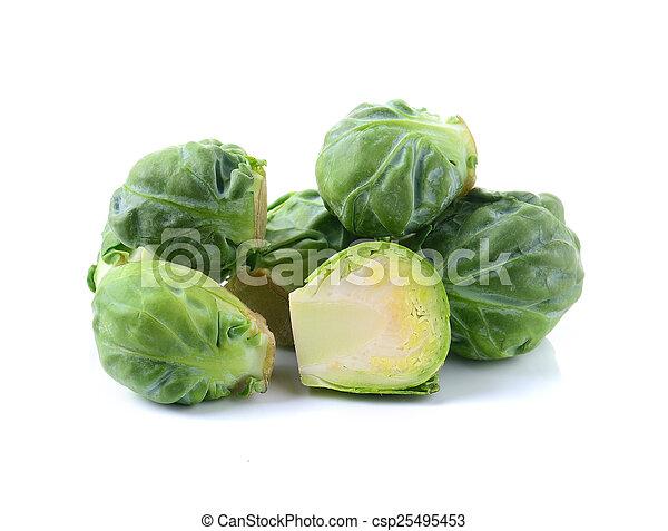 cabbage on white background - csp25495453