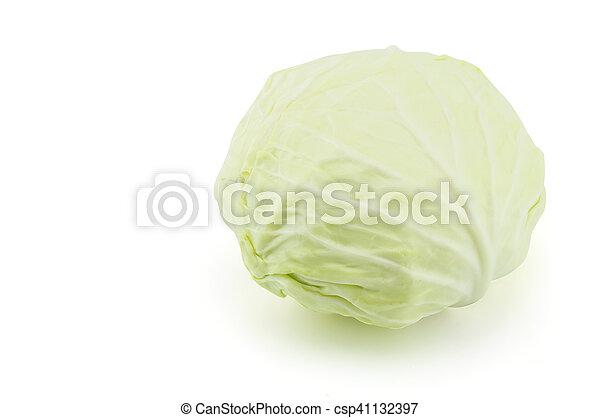 cabbage on white background - csp41132397