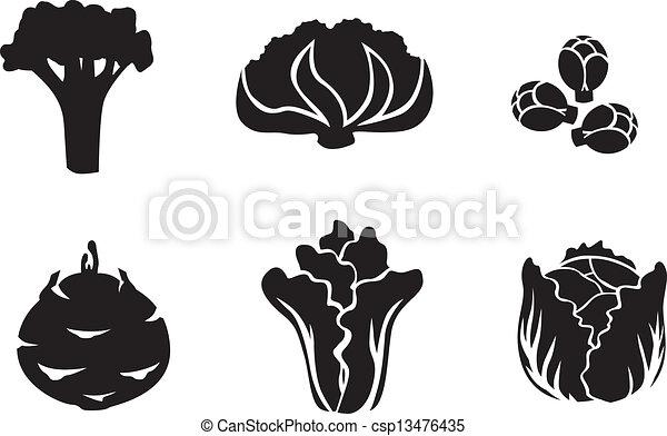 Cabbage set - csp13476435