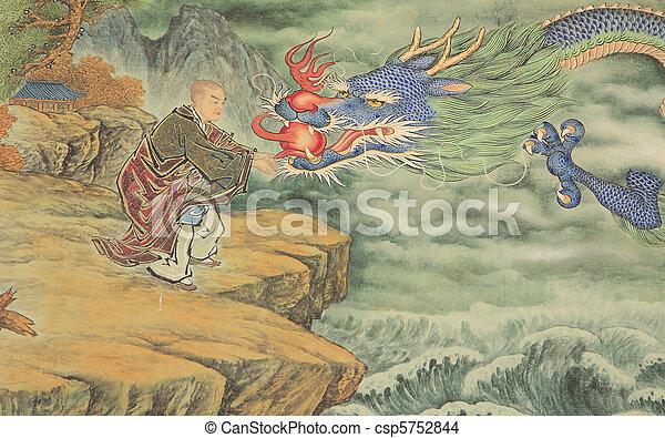 cabeça, dragon's - csp5752844