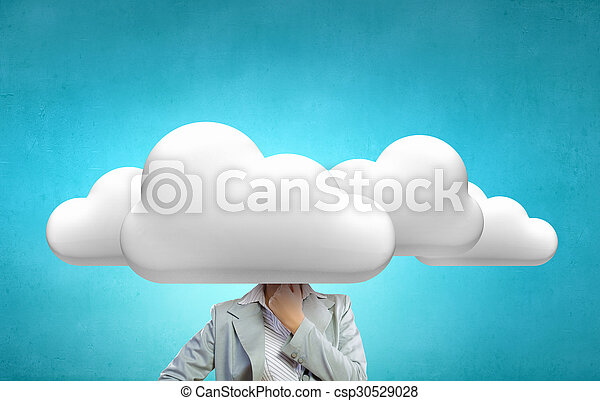 cabeça, nuvens, um - csp30529028