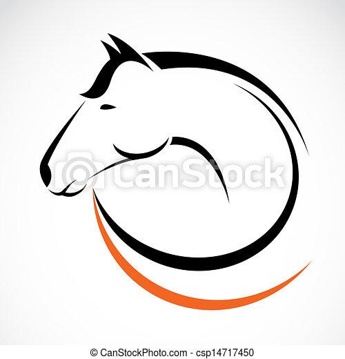 cabeça, vetorial, cavalo - csp14717450