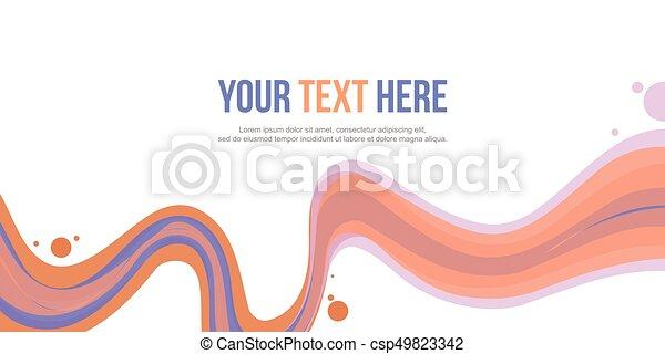 cabeçalho, abstratos, fundo, cobrança, onda - csp49823342