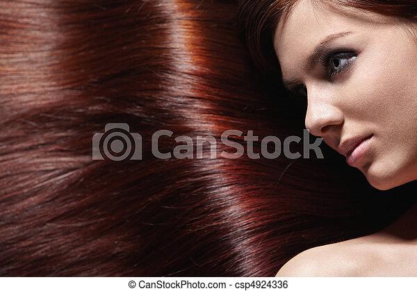cabelo, brilhante - csp4924336