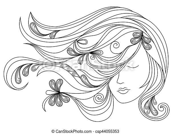 Cabelo Cabeça Femininas Fluir