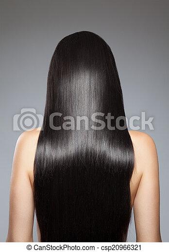 cabelo, direito, longo - csp20966321