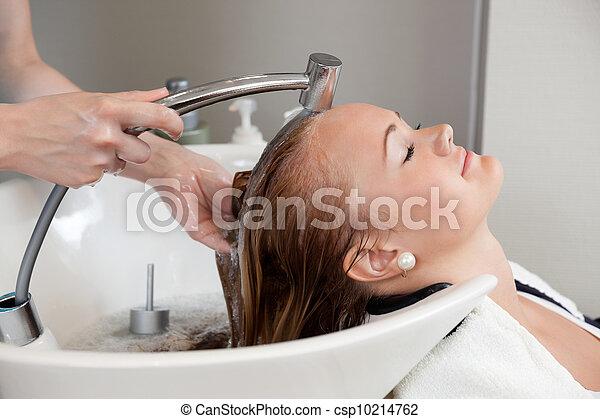 cabelo, lavagem, salão - csp10214762