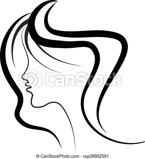 cabelo  logotipo  menina  sal u00e3o  beleza mulher  beleza hair salon clip art black and white hair salon clip art black and white