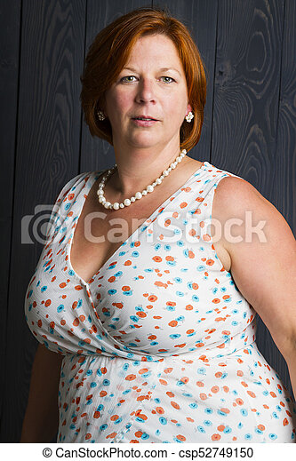 cabelo, mulher, vermelho - csp52749150