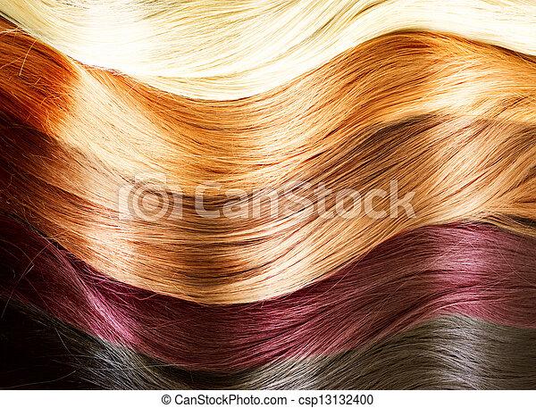 cabelo, palette., cores, textura - csp13132400