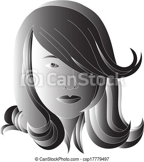 cabelo preto - csp17779497
