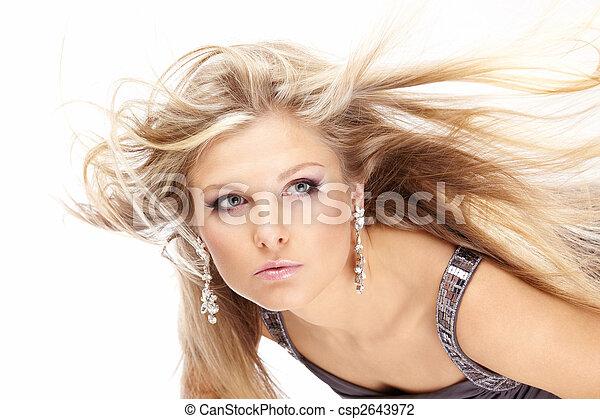 cabelo voando, feira - csp2643972