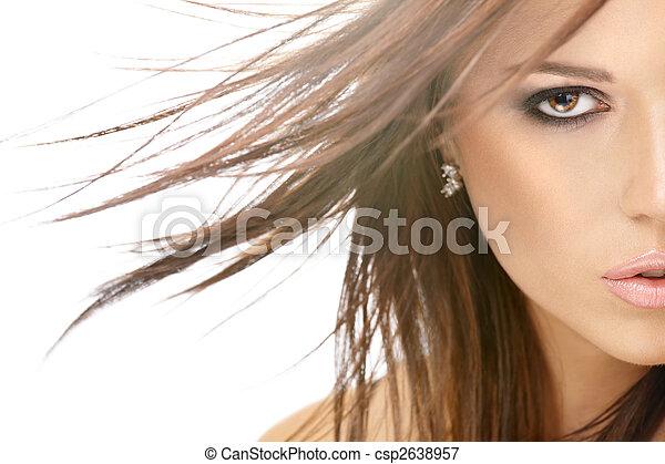 cabelo voando - csp2638957