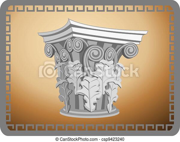 Cabeza de columna corintiana - csp9423240
