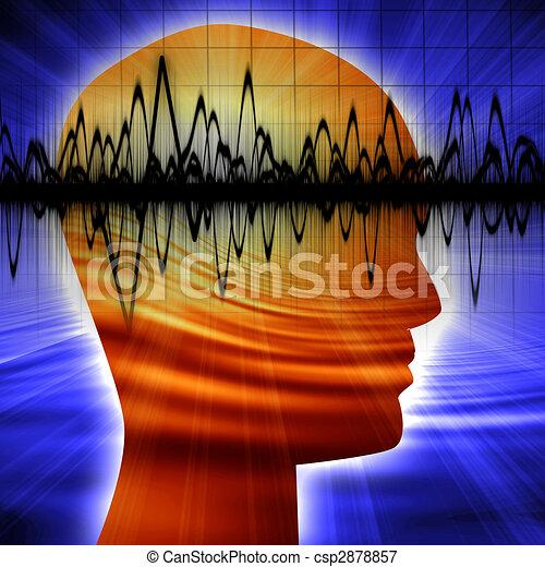 Silueta de cabeza humana - csp2878857