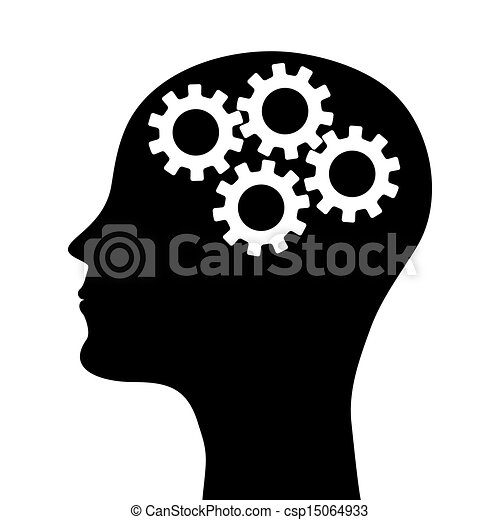 Silueta de cabeza humana - csp15064933