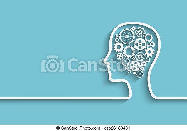 Cabeza humana - csp26183431