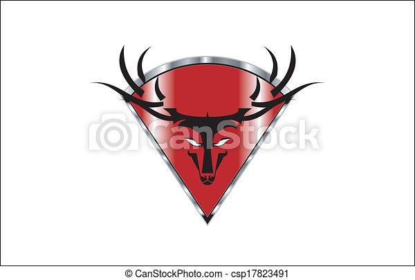 icono de cabeza salvaje - csp17823491