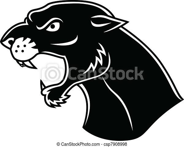Cabeza de pantera negra - csp7908998