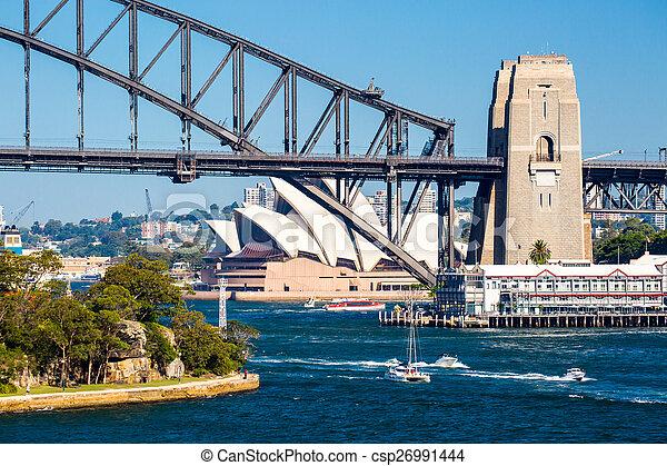 Sydney Skyline de la reserva de bolas - csp26991444