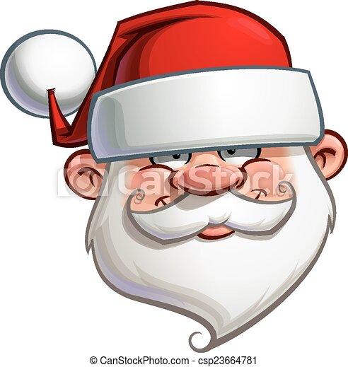 Feliz Santa, cabeza - csp23664781