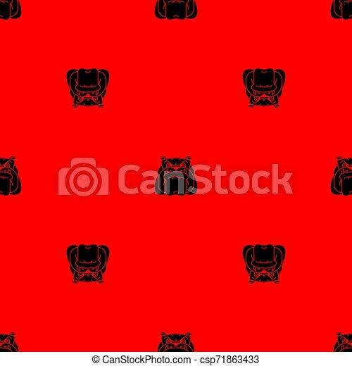 El patrón de los perros no está sellado. Fondo de bulldog enojado. Textura vectorial - csp71863433
