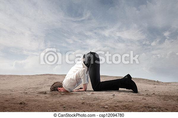 Cabeza en el suelo - csp12094780