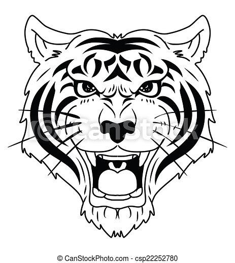 Cabeza de tigre - csp22252780
