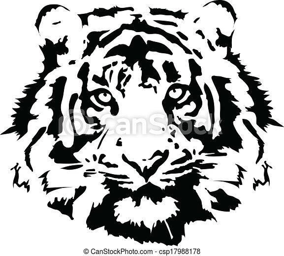 Cabeza de tigre - csp17988178