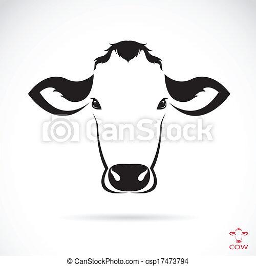 Imagen vector de una cabeza de vaca - csp17473794