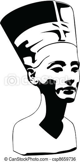 Jefe del Vector de Nefertiti - csp8659736