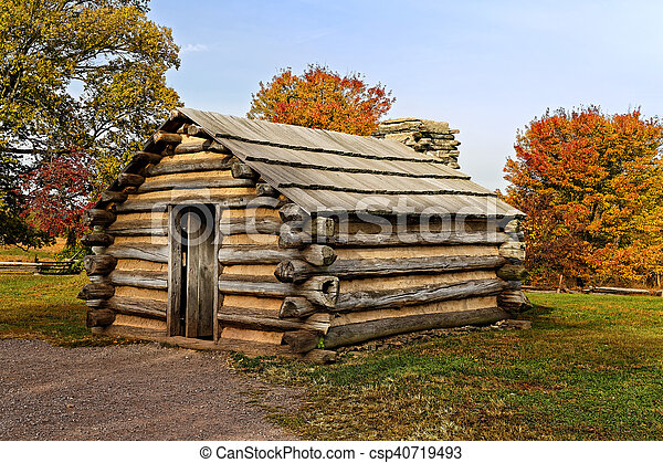 Cabin at Valley Forge - csp40719493