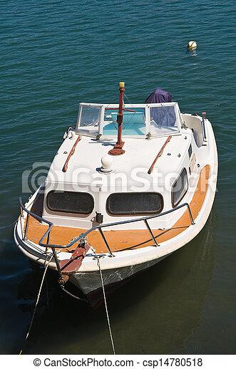 Cabin cruiser. Brindisi. Puglia. Italy. - csp14780518