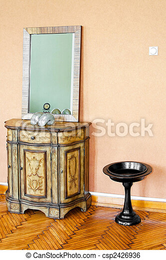 Cabinet and mirror - csp2426936