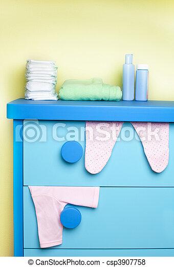 cabinet in nursery room - csp3907758