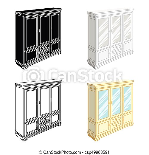 Cabinet With Glass Doors And Drawers Furniture And Interior Single