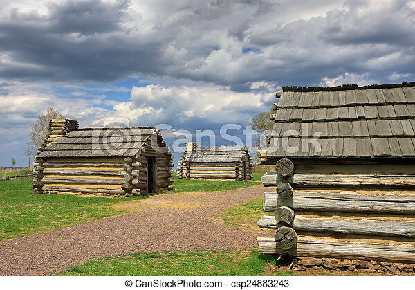 Cabins at Valley Forge - csp24883243