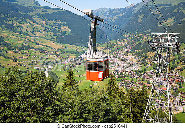 Cable Car in Grindelwald, Bern Canton, Switzerland - csp2516441