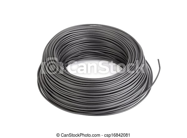 Cable Roll Of Black Electic Wire Pictures