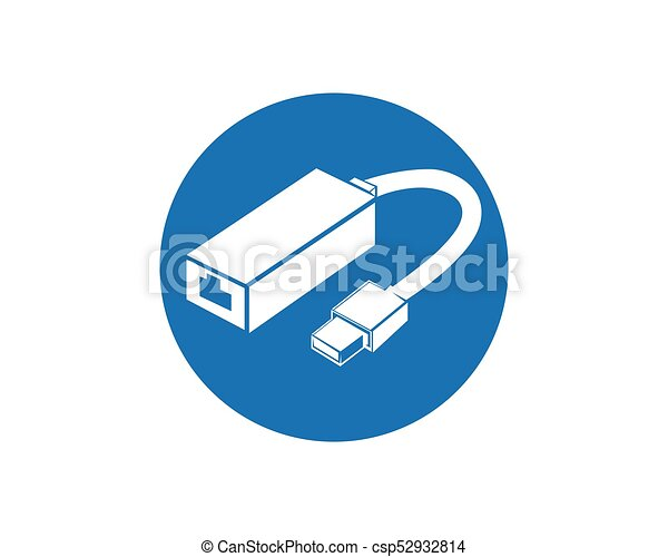 Cable wire computer and plug icons set vector clip art - Search ...