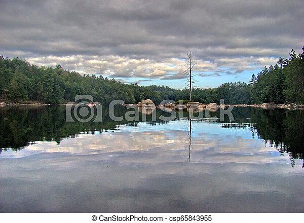 Cachacoma Lake, Ontario, Canada - csp65843955