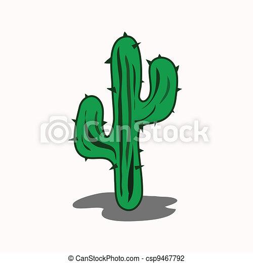 Cactus cartoon - csp9467792